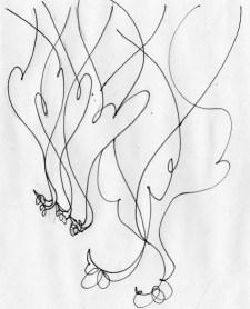 Rye lane hanging poultry, ink on paper, December 2015.
